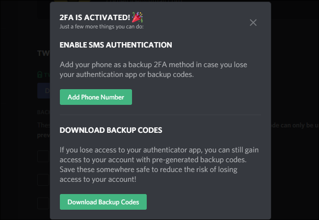 enable sms authentication for 2fa