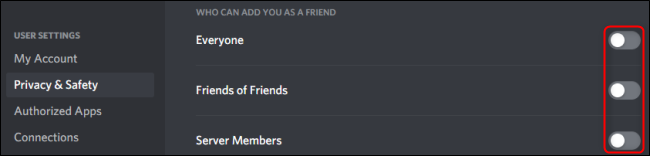 who can add you as friend on discord