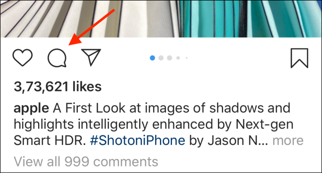 navigate to the comment that you want to delete on instagram