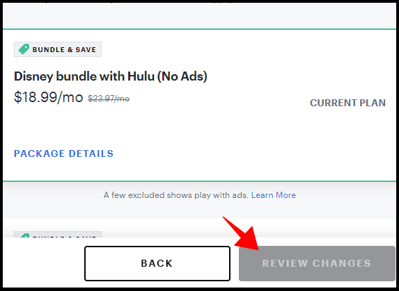 review changes to review your new plan in hulu
