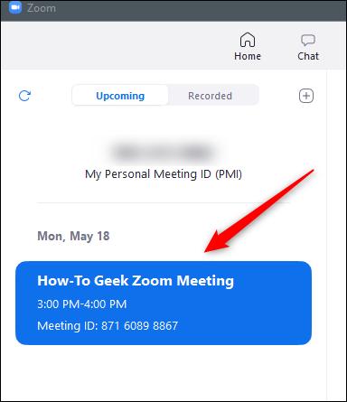 upcoming meetings in zoom