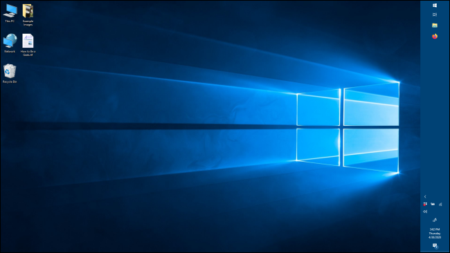 vertical taskbar orientation in windows 10