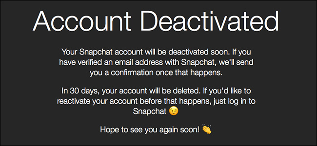 account deactivated on snapchat