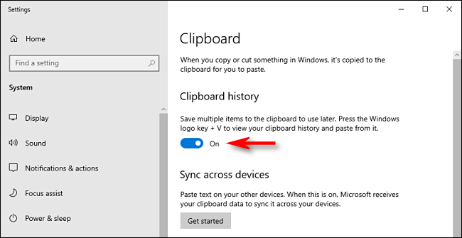 clipboard history on windows 10