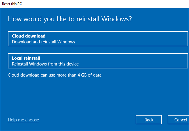 download and reinstall windows