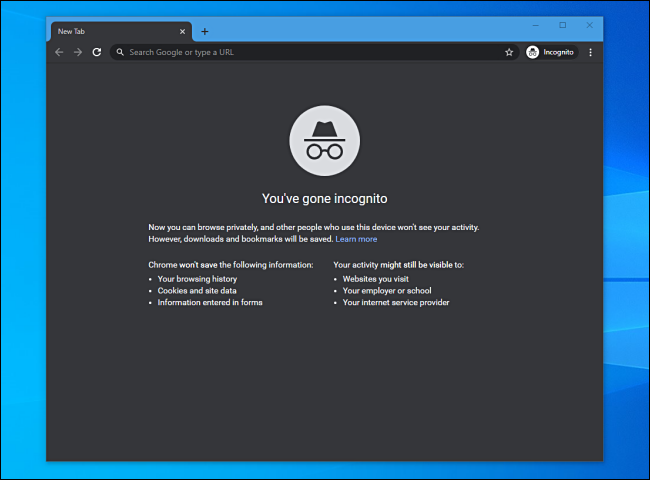 edit the target path of google chrome to open incognito mode by default