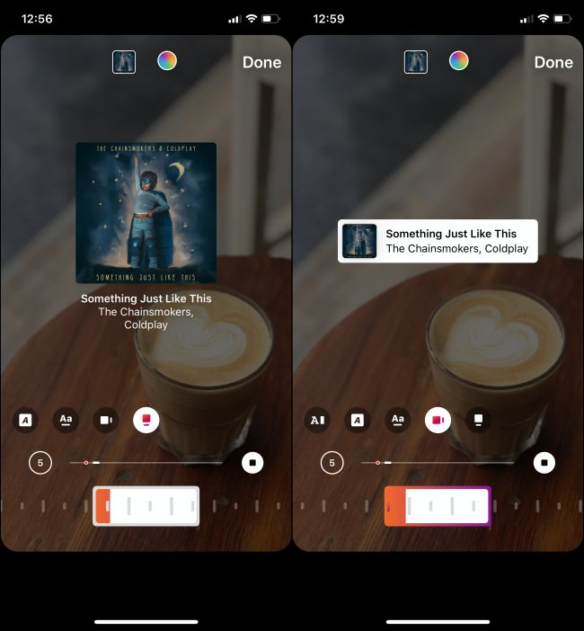 instagram music album cover and details
