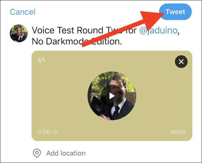 tweet the voice tweet