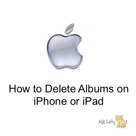 Deleting Photo Albums on iPhone or iPad