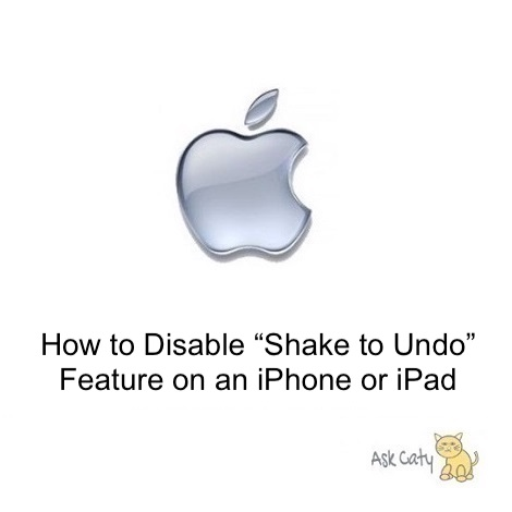 "How to Disable ""Shake to Undo"" Feature on an iPhone or iPad"