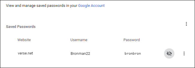 display saved passwords in google chrome