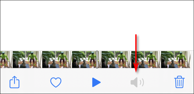 photos app will completely remove the audio from the video in iphone