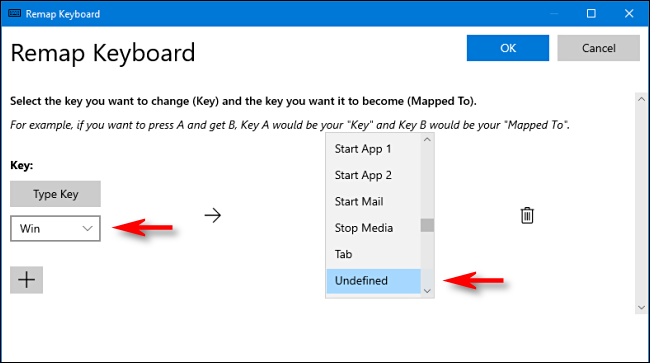 remap keyboard on windows 10 pc