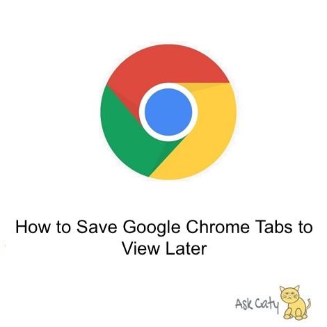 Bookmarking Tabs on Google Chrome