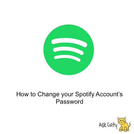How to Change your Spotify Account's Password