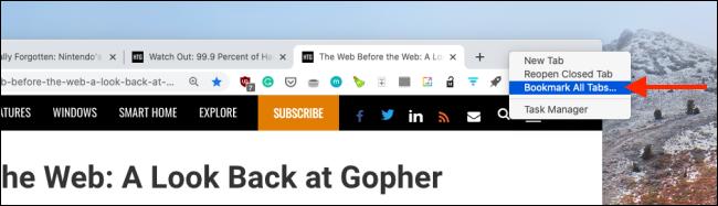 bookmark all tabs on google chrome