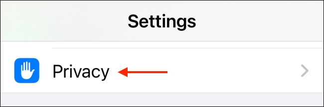 go to privacy in settings to access location services