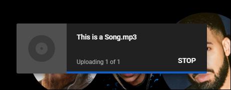 youtube music upload progress