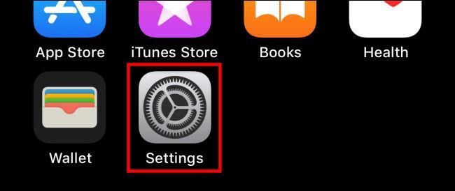 Settings in iOS 14 iPhone