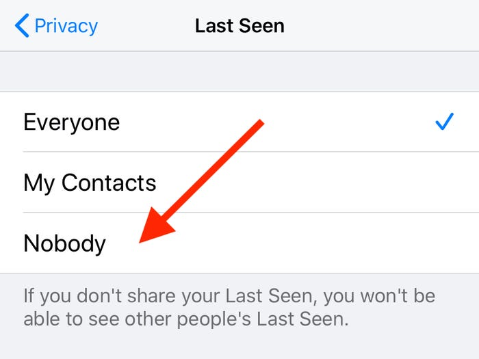change the last seen setting on whatsapp