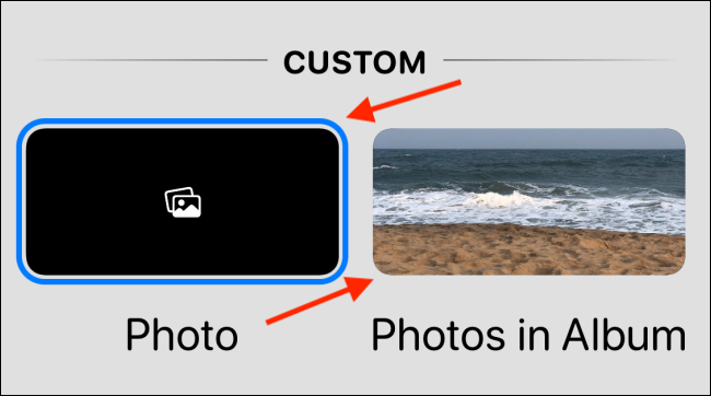 choose the style tab and select photo or photos in album on widgetsmith