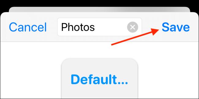 save the photo widget
