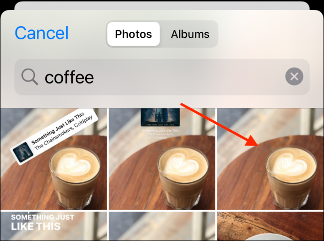 choose photo to add in custom widget