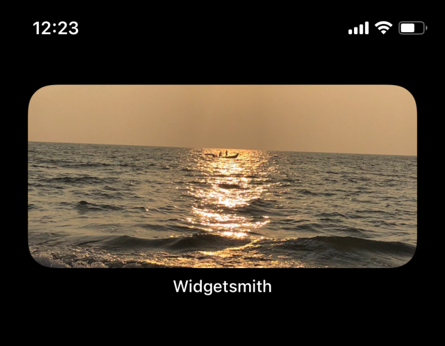 the photo widget will be displayed on the screen created by widgetsmith app