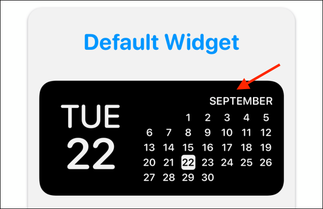 widget preview in widgetsmith