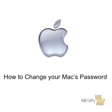 How to Change your Mac's Password
