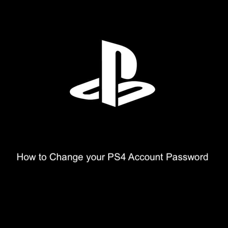 How to Change your PS4 Account Password