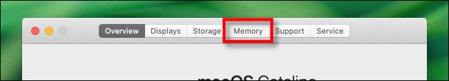 go to memory tab in about this mac