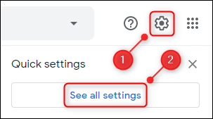 see all settings option in gmail