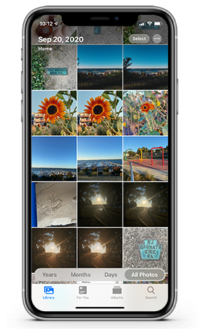 select the photos to hide in iOS 14