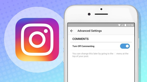 turn off commenting for posts on instagram