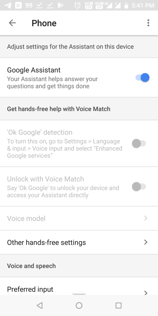turn on google assistant for your smartphone