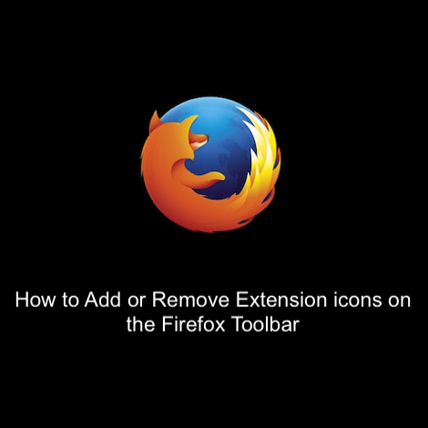 How to Add or Remove Extension icons on the Firefox Toolbar