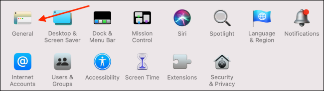 general in system preferences to enable dark mode