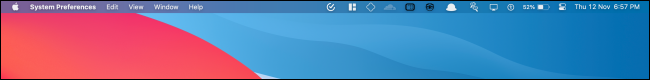 hide the menu bar at the top of the mac's screen