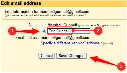 change display name on gmail