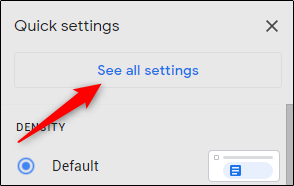 see all gmail settings
