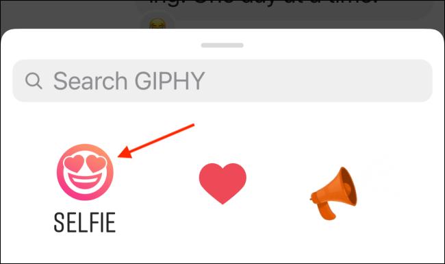 selfie sticker option in insta chat