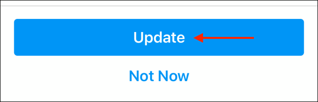 update button to update messaging on instagram