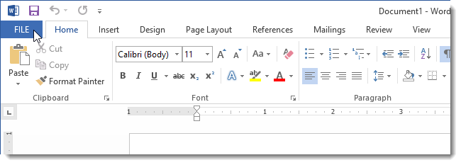 go to files in microsoft word